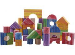 Pěnové kostky dřevěný design 100 ks