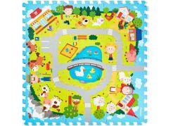 Pěnové Puzzle Vesnice 9 ks
