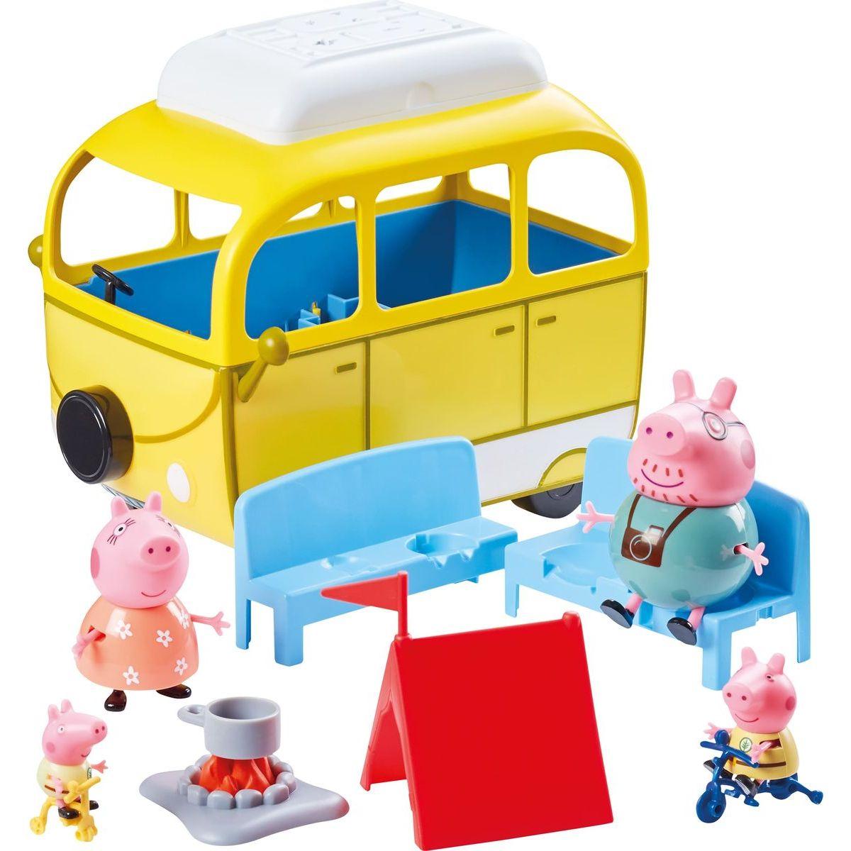 Peppa Pig karavan de Luxe s příslušenstvím 4 figurky