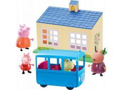 Peppa Pig škola a školní autobus hrací set