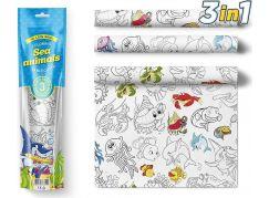 Pexi Malovací ubrusy 3 ks Mořská zvířátka