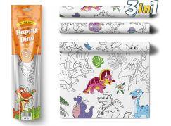 Pexi Malovací ubrusy 3 ks Šťastní Dinosauři