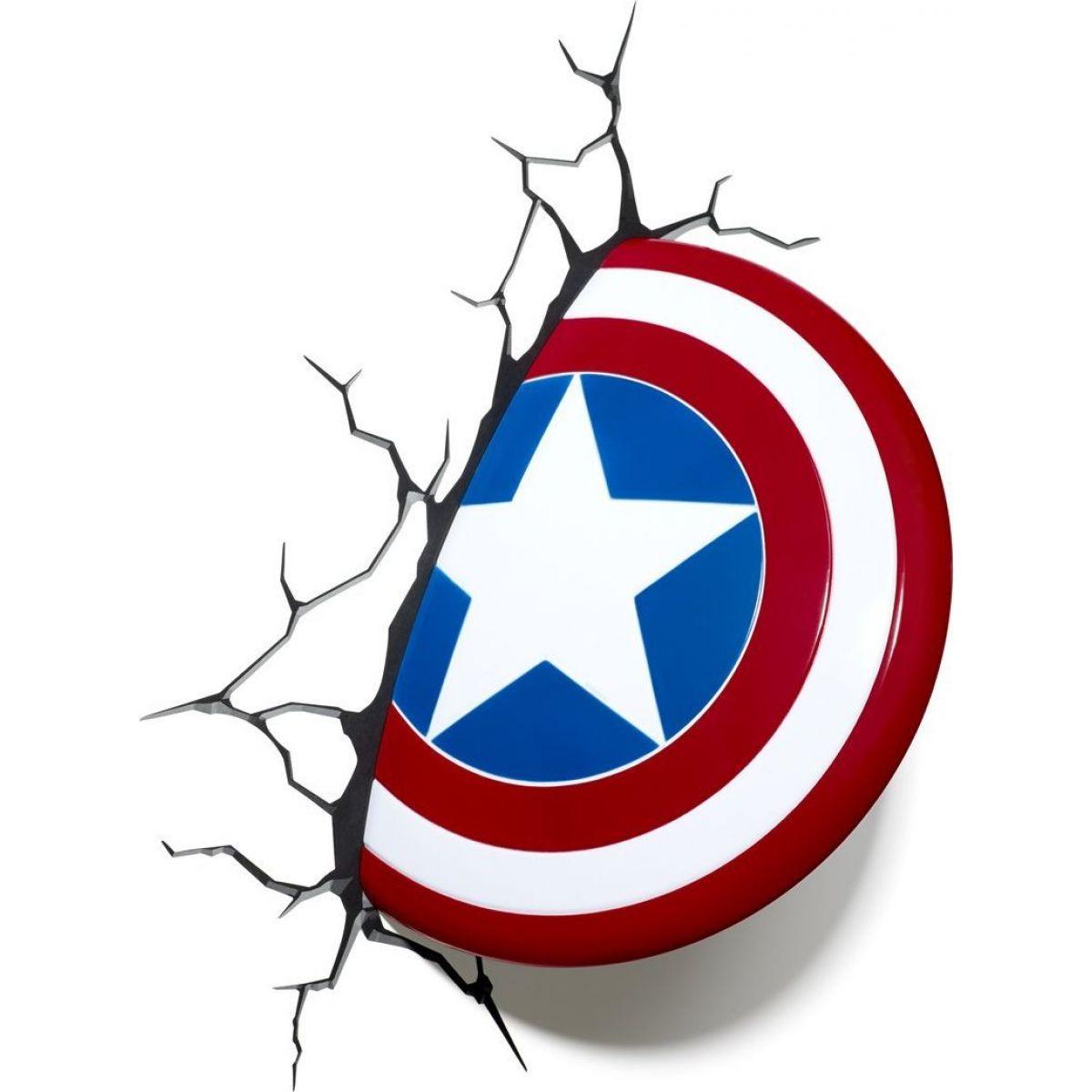 Philips Avengers 3D světlo na zeď - Štít Capitain America