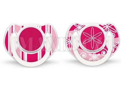 Philips Avent Šidítka Exclusive 6-18m. 2ks - Růžová
