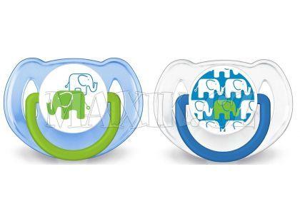 Philips Avent Šidítka Obrázek slon 6-18m. 2ks - Pro kluky