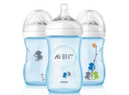 Philips Avent Láhev Natural 260 ml opice modrá