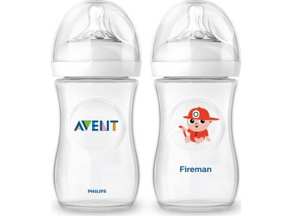 Philips Avent Láhev Natural 260ml + 260ml hasič