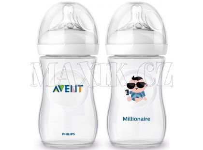 Philips Avent Láhev Natural 260ml + 260ml milionář