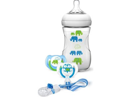 Philips Avent Sada Natural Slon zelená 260ml