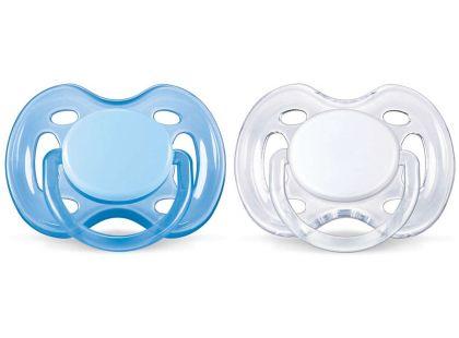 Philips Avent Šidítka Sensitive 0-6m. 2ks - Modrá a bílá