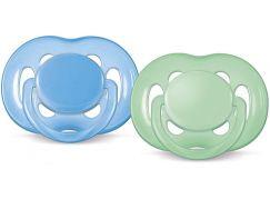 Philips Avent Šidítka Sensitive 6-18m. 2ks - Modrá a zelená