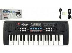 Pianko 37 kláves s mikrofonem + přehrávač MP3 5V