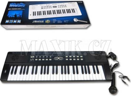 Piano 54 kláves s nabíječkou a mikrofonem