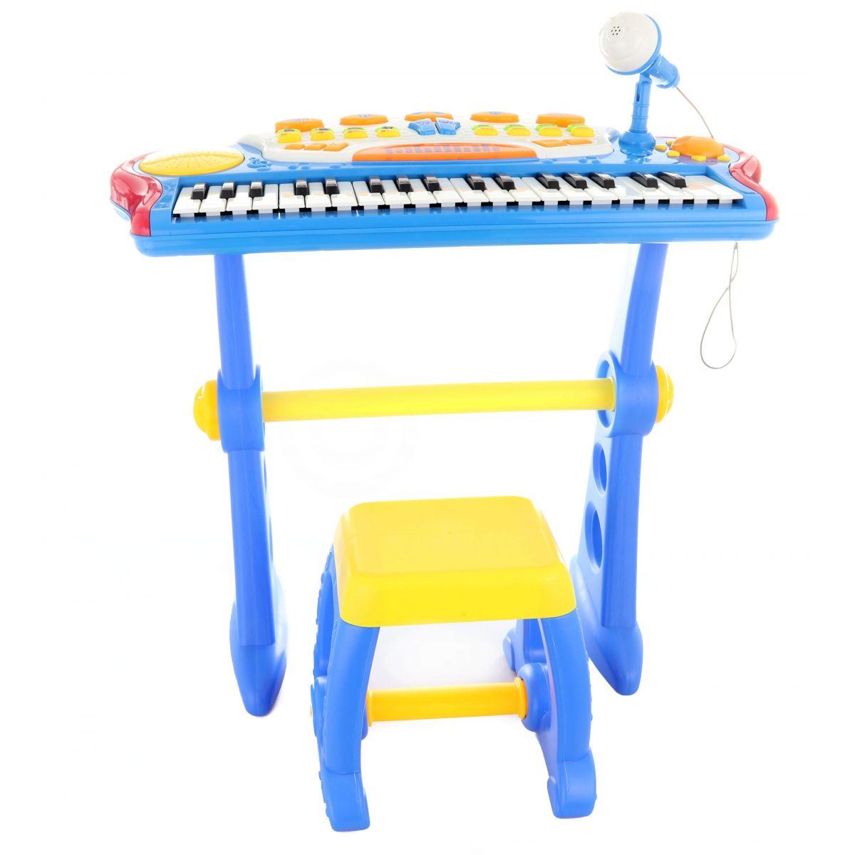 Piáno s adaptérem 37 kláves modrá - Poškozený obal