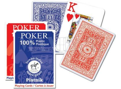 Piatnik Karty Poker Plastic Jumbo Index