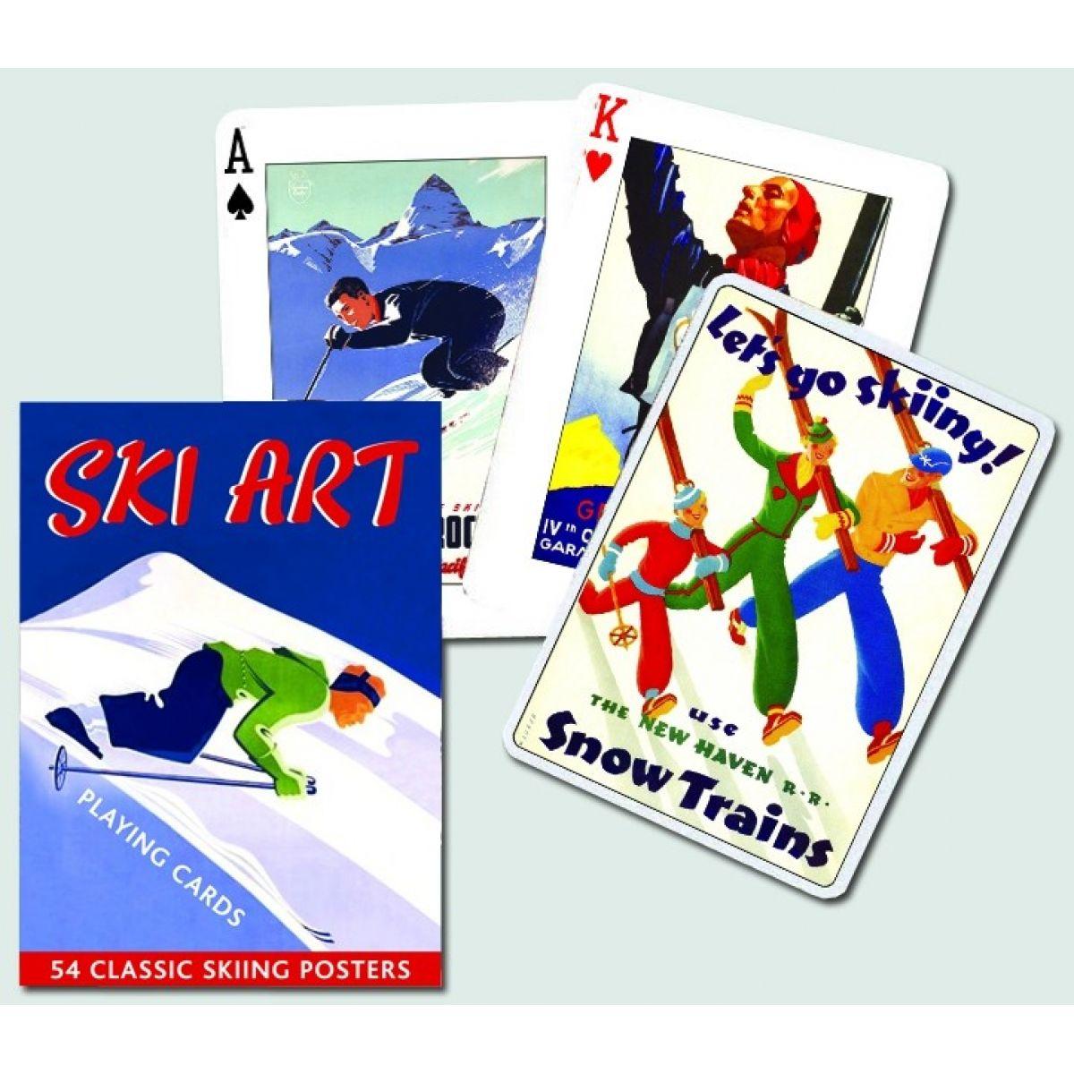 Piatnik Karty Poker Ski Art