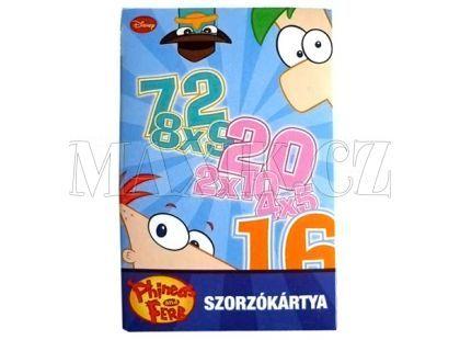 Piatnik Phineas a Ferb Početní hra