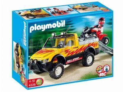 Pick-UP se čtyřkolkou Playmobil 4228