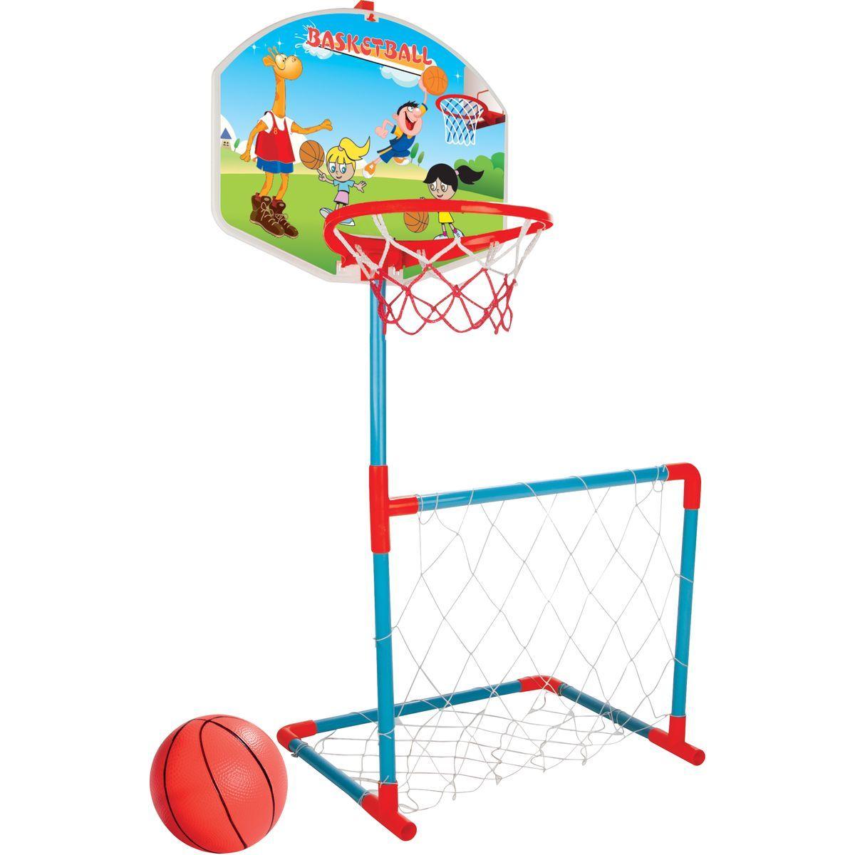 Pilsan Toys Basketbalová deska s fotbalovou brankou Děti