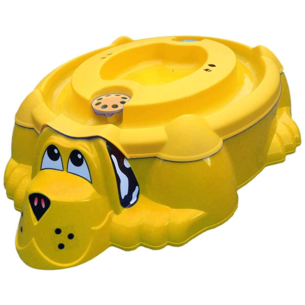 Pískoviště PEJSEK s krytem - Žluté se žlutým krytem