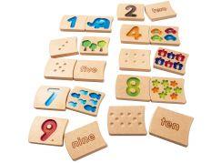 Plan Toys Čísla 1-10 ČJ+AJ