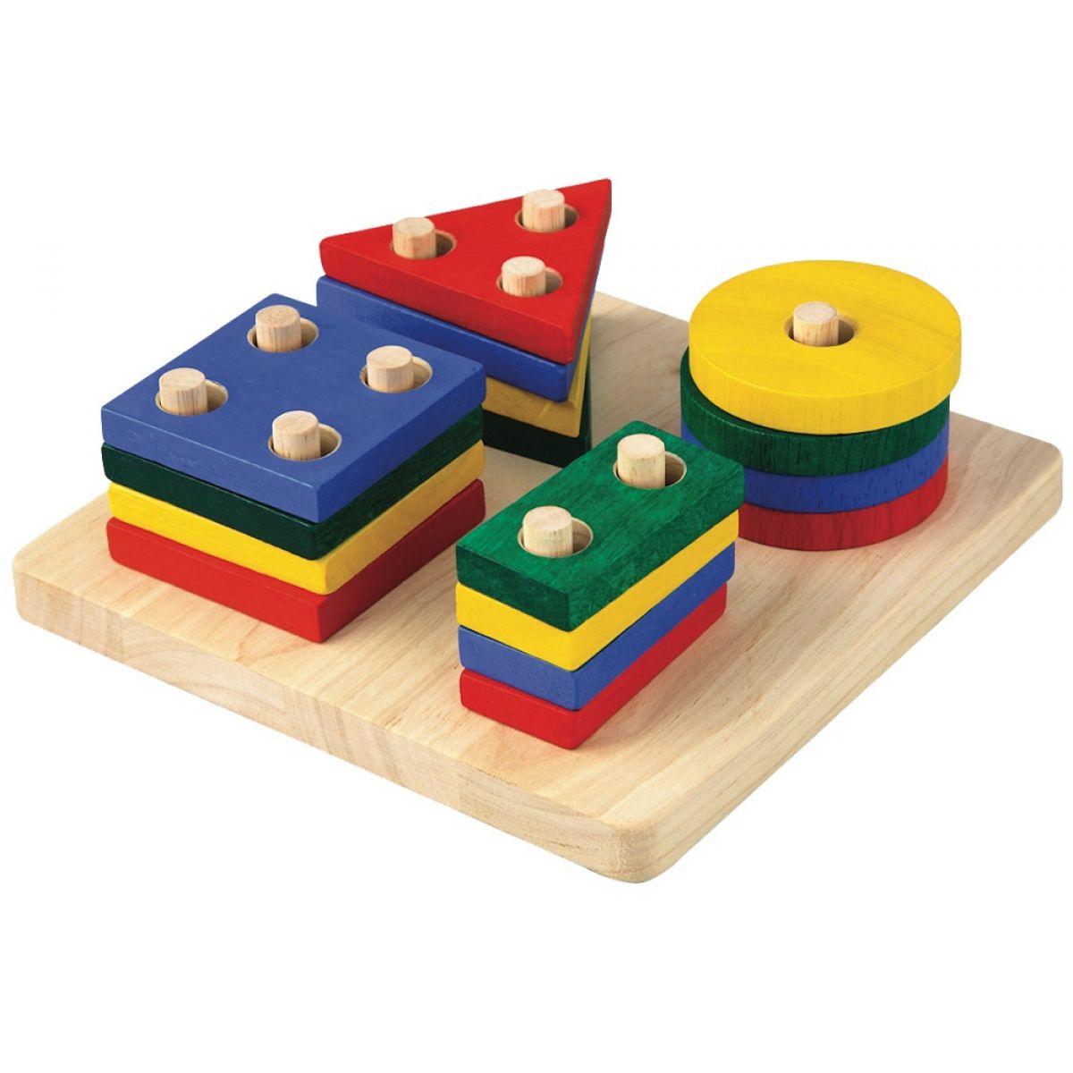 Plan Toys Deska s geometrickými tvary