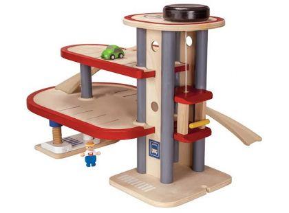 Plan Toys Eko Dvoupatrová garáž