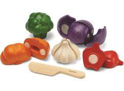 Plan Toys Sada zeleniny 5 barev