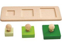 PlanToys Puzzle tři čtverce