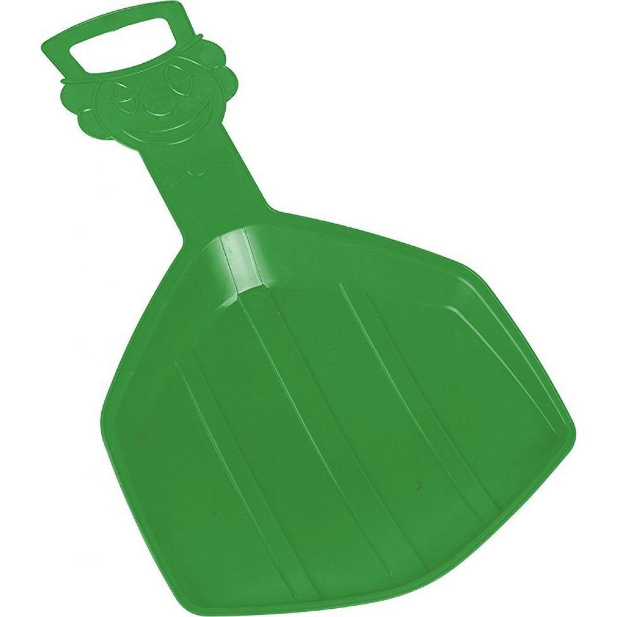 Plastkon Lopata sáňk.Klaun zelená