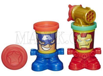 Play-Doh Avengers Kelímky ve tvaru hrdinů - Captain Amerika a Iron Man