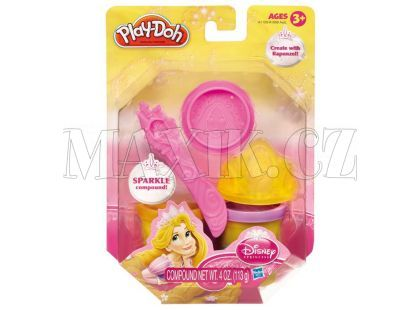 Play-Doh Disney Princess třpytivá modelína s vytlačovátky A1099 - Locika