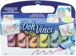 Play-Doh DohVinci Náhradní tuby 6ks Pastelové barvy