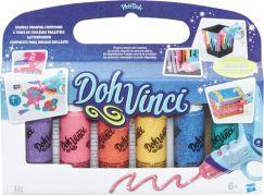Play-Doh DohVinci Náhradní tuby 6ks Třpytivé barvy