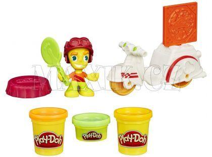 Play-Doh Town vozidla - Skutr s pizzařem