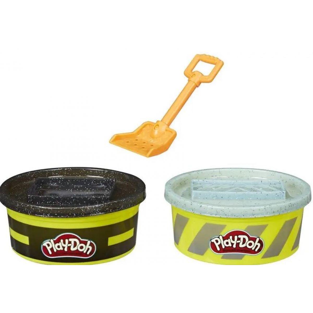 Play-Doh Wheels Stavební modelína černá, šedá