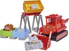 PlayBig Bloxx Bořek Stavitel Max červený buldozer