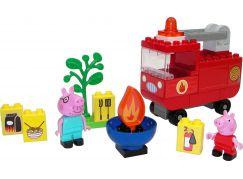 PlayBig BLOXX Peppa Pig Hasičské auto s příslušenstvím