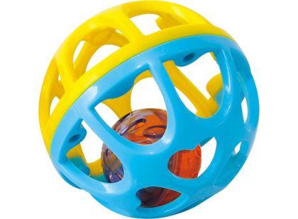 Playgo Chrastící míček - Modro-žlutá