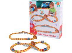 PlayGo Vláčková souprava s tunelem s míčkem