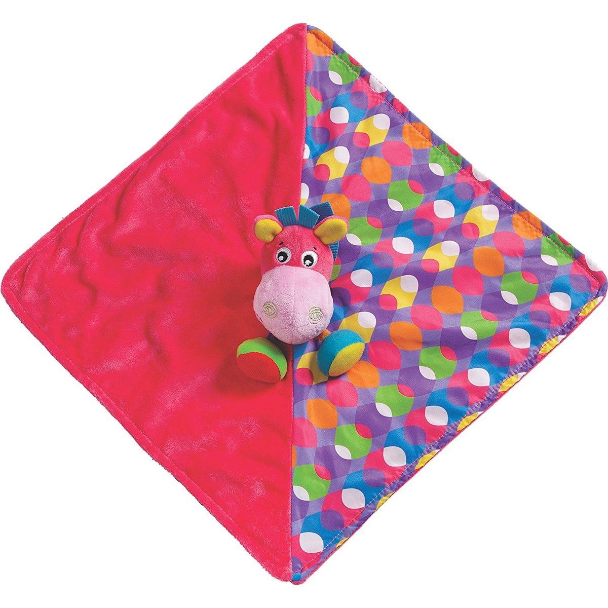 Playgro Mazlící dečka oslík růžový
