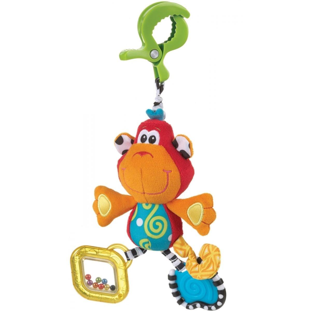 Playgro Závěsná opička s klipem