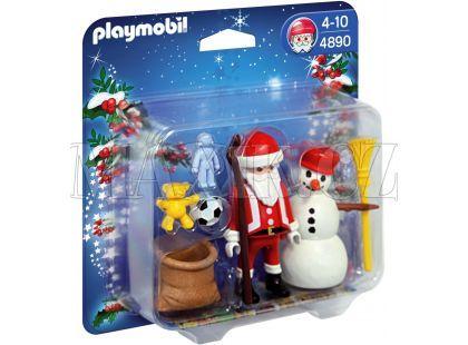 Playmobil 4890 Santa Claus a sněhulák