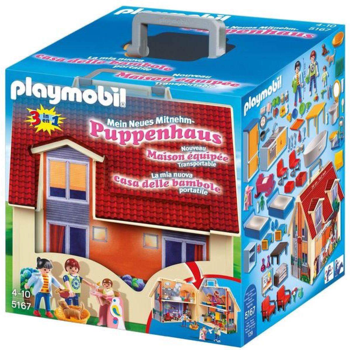 PLAYMOBIL 5167 Přenosný dům pro panenky - Poškozený obal