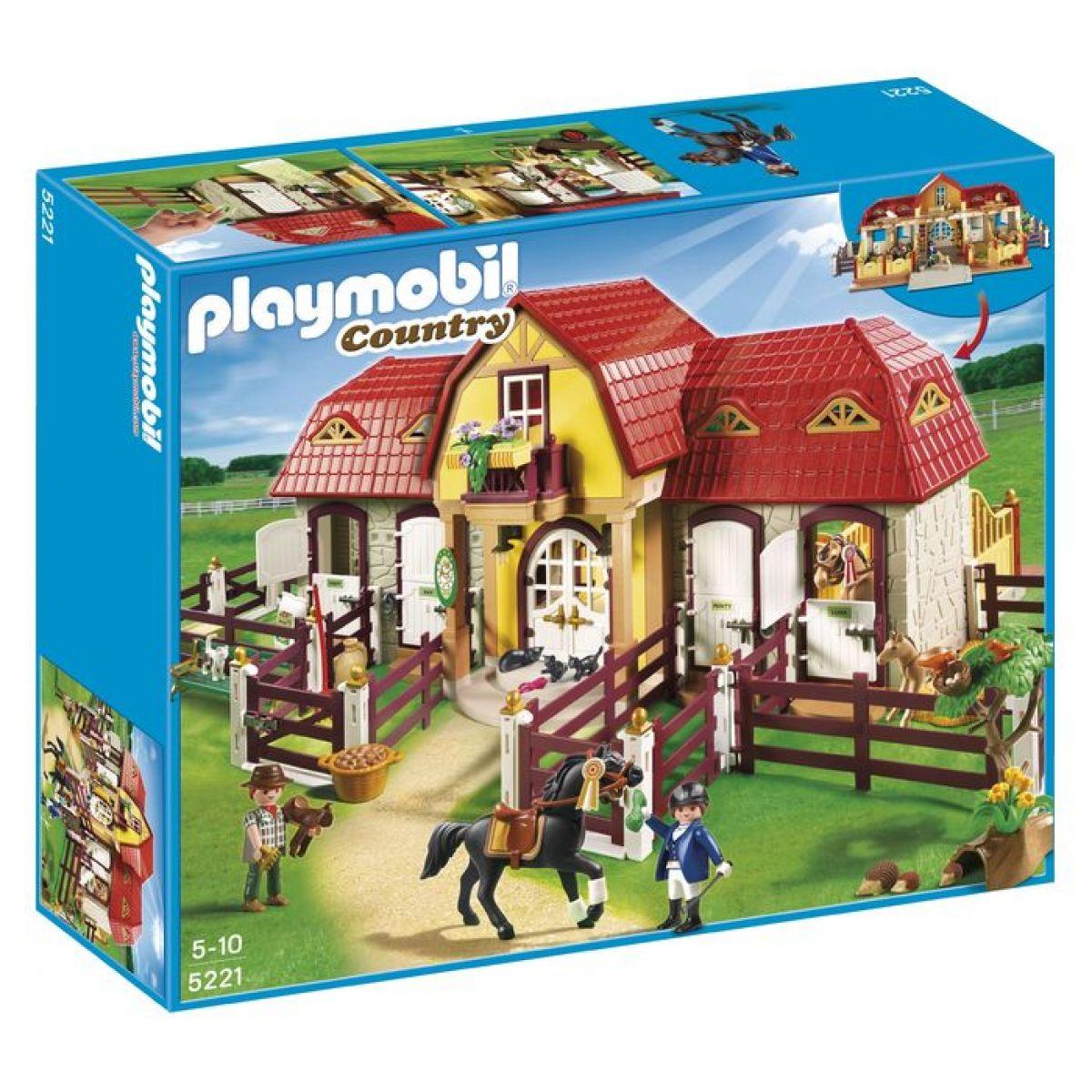 PLAYMOBIL 5221 Velká koňská farma s výběhem - Poškozený obal