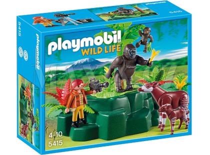 Playmobil 5415 Gorily a Okapi s kameramanem