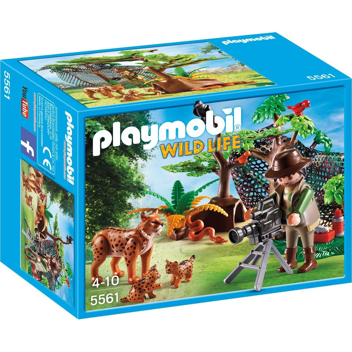 Playmobil 5561 Rysí rodina s filmařem