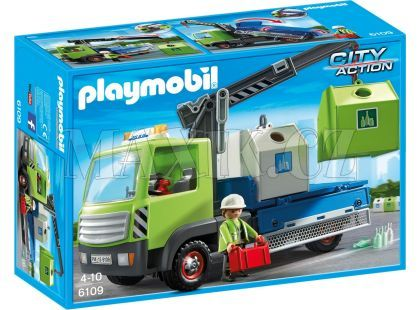 Playmobil 6109 Nákladní vůz s kontejnery na sklo
