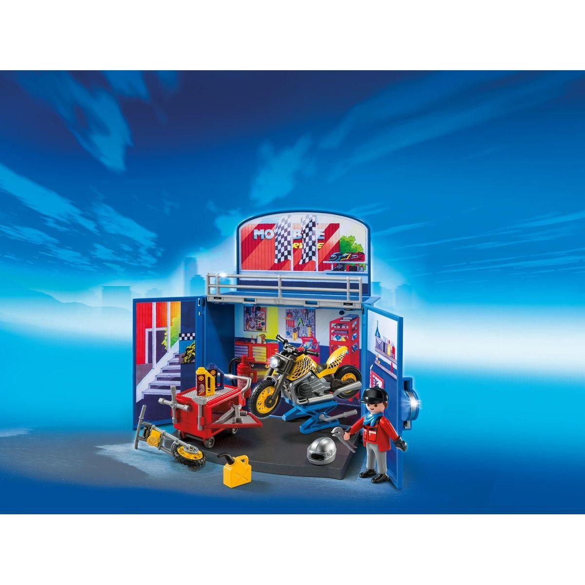 Playmobil 6157 Zavírací box - Motorkářská dílna #2