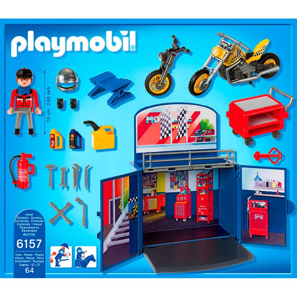 Playmobil 6157 Zavírací box - Motorkářská dílna #3